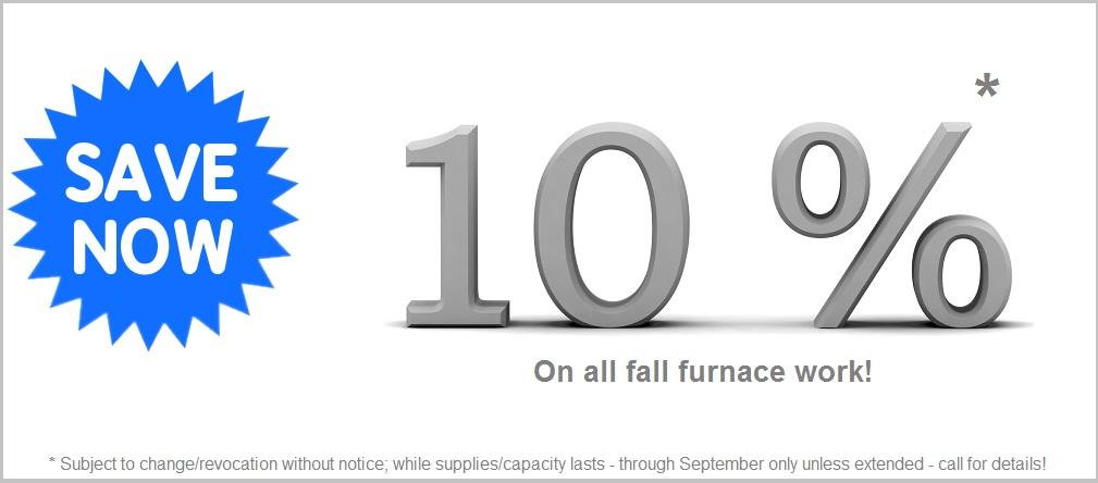 10% off fall furnace work in Peterborough